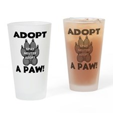 Adopt A Paw: Spay! Neuter! Ad Drinking Glass