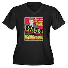 Harper Attacks / Women's Plus Size V-Neck Dark T-S