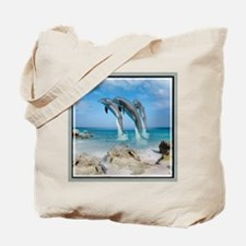 Dolphins In Paradise Tote Bag