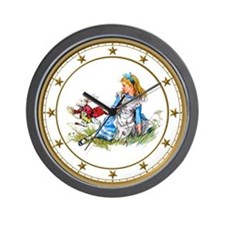 The Rabbit Rushes by Alice Wall Clock