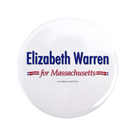 """Elizabeth Warren for MA"" 3.5"" Butt"