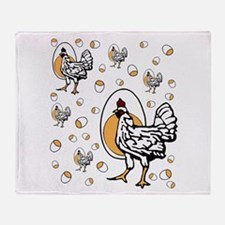 Retro Chicken Shirt Throw Blanket