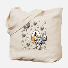 Retro Chicken Shirt Tote Bag