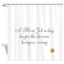 Cute Blow job Shower Curtain