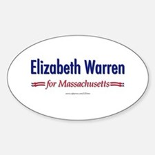 """Elizabeth Warren for MA"" Sticker (Oval)"