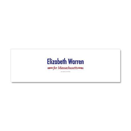 """Elizabeth Warren for MA"" Car Magnet 10 x 3"