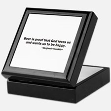 Beer is Proof God Loves Us Keepsake Box