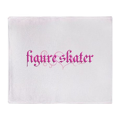 Figure Skater Grunge Throw Blanket