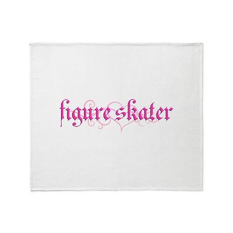 Figure Skater Grunge Throw Blanket