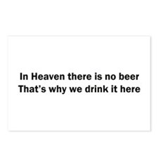 In Heaven There is No Beer Postcards (Package of 8