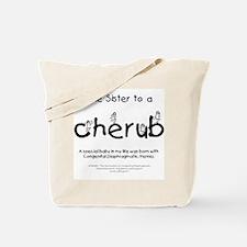 Little Sister to a Cherub Tote Bag