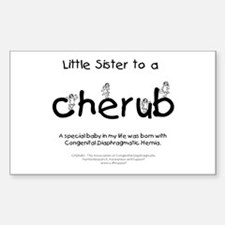 Little Sister to a Cherub Decal