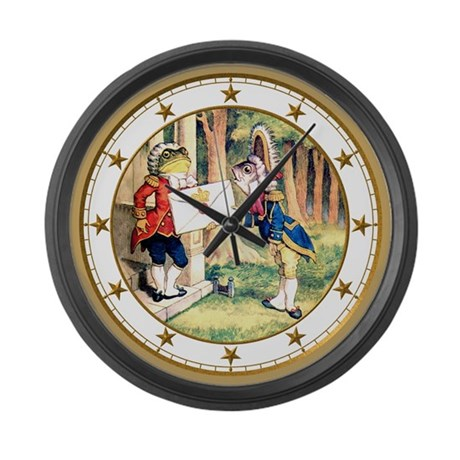 An Invitation From The Queen Large Wall Clock