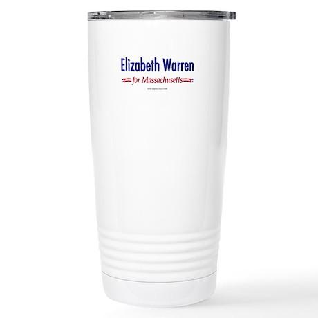"""""""Elizabeth Warren for MA"""" Stainless Steel Travel M"""