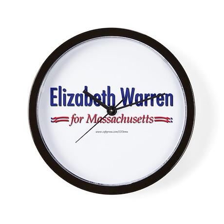 """""""Elizabeth Warren for MA"""" Wall Clock"""