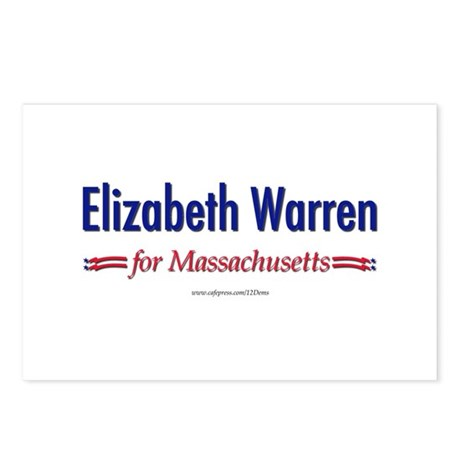 """Elizabeth Warren for MA"" Postcards (Package of 8)"