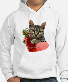 Gray Kitten Momma's Girl Hoodie Sweatshirt