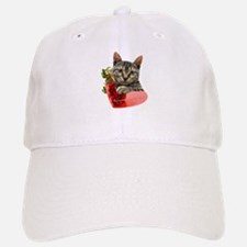 Gray Kitten Momma's Girl Baseball Baseball Cap