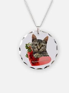 Gray Kitten Momma's Girl Necklace