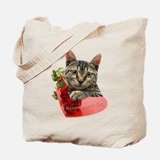 Gray Kitten Momma's Girl Tote Bag