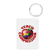 Teach Compassion Aluminum Photo Keychain