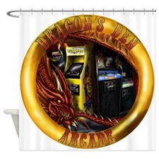 Dragon's Den Arcade Shower Curtain