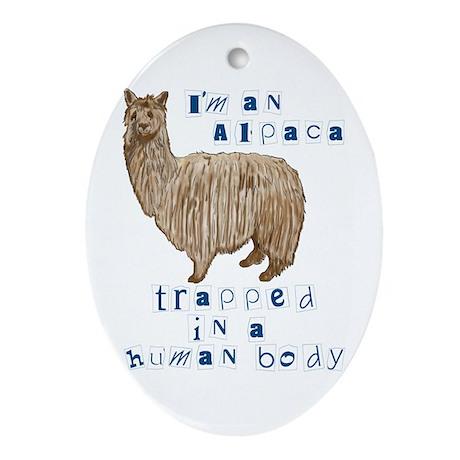 I'm an Alpaca Oval Ornament