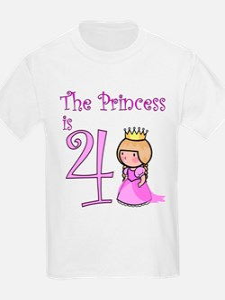princess is 4 T-Shirt