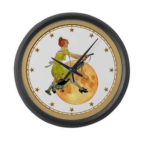 modern witch large wall clock by rooseveltbears
