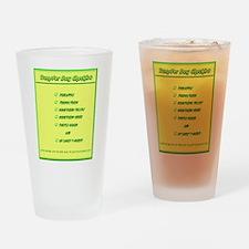 Transfer Day Checklist Drinking Glass
