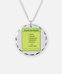 Transfer Day Checklist Necklace