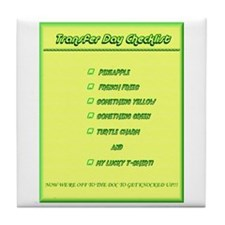 Transfer Day Checklist Tile Coaster