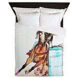 Barrel racing Duvet Covers