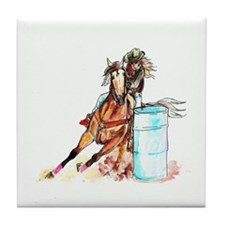 Barrel Racer Tile Coaster