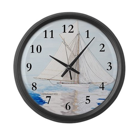 Becalmed Large Wall Clock