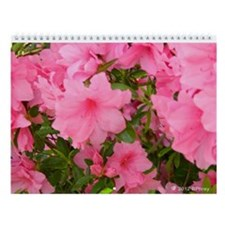 Pink Flowering Azalea Wall Calendar