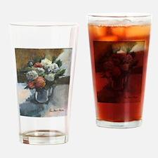 Flowers (#2) by Elsie Batzell Drinking Glass