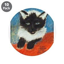 """Siamese Kitten by Elsie 3.5"""" Button (10 pack)"""