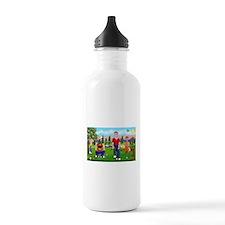 Frustrated golfers cartoon Water Bottle