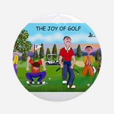 Joy of Golf 1 Ornament (Round)