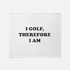 Cute Golf humor Throw Blanket