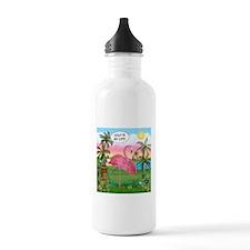 Golfing Flamingo Water Bottle