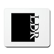 LDR Typography Mousepad