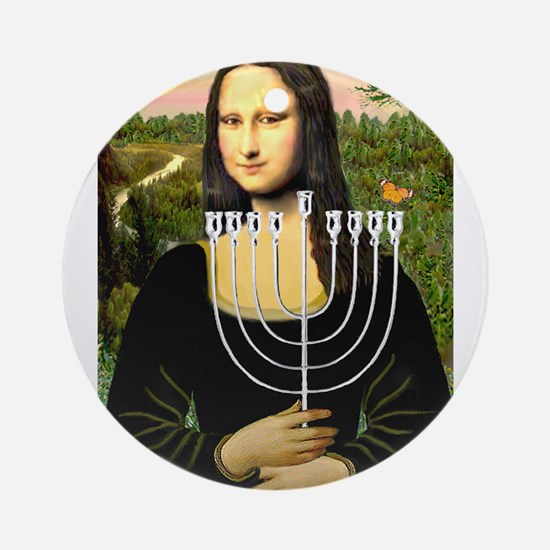 Mona Lisa's Menorah Ornament (Round)