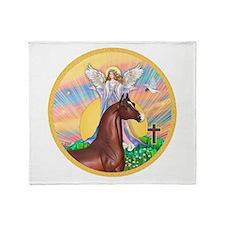 Blessings/Horse (Ar-Brn) Throw Blanket