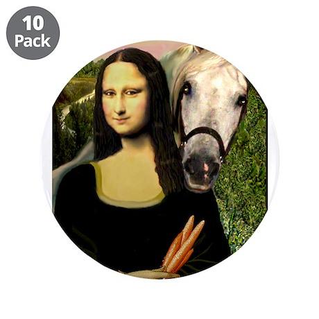 "Mona's Arabian Horse (#1) 3.5"" Button (10 pack)"