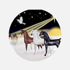 """XmsDove/3 Horses (Ar) 3.5"""" Button"""