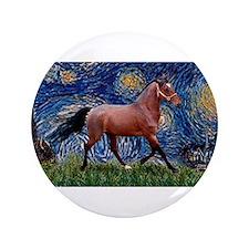 "Starry Night Quarterhorse 3.5"" Button"