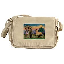St. Francis & Buckskin horse Messenger Bag