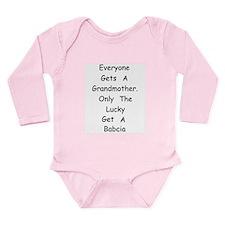 Babcia Long Sleeve Infant Bodysuit